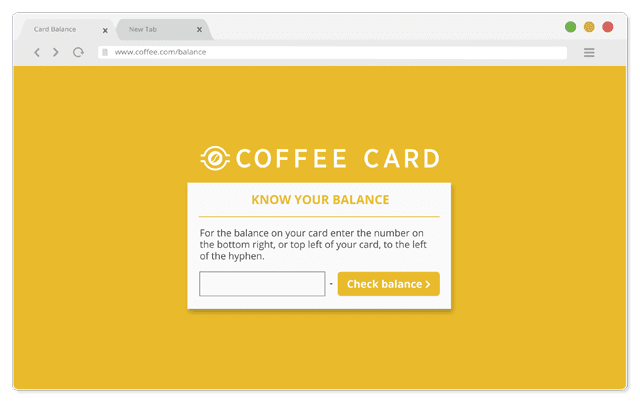 Coffee Card Statement