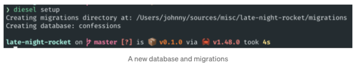 New database and migrations