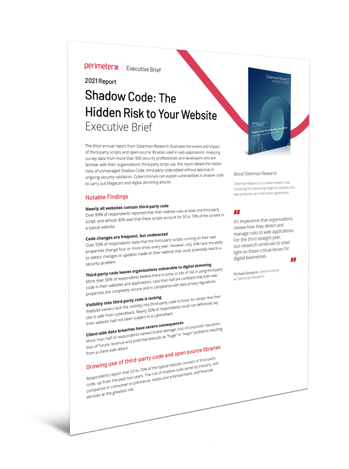The Hidden Risk to Your Website Executive Brief